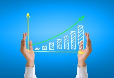 Graph Arrow Improvement Royalty Free Stock Photography - Image ...